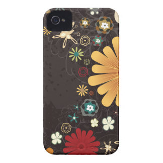Caja colorida linda del iphone 4 de las flores funda para iPhone 4