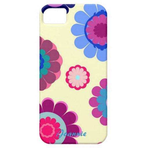 Caja colorida linda del iPhone 5 de la flor iPhone 5 Carcasa