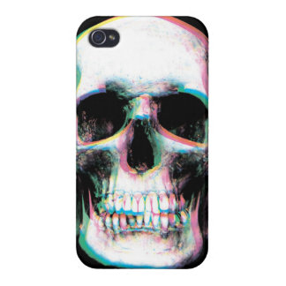 Caja colorida Trippy del iPhone del cráneo iPhone 4/4S Fundas
