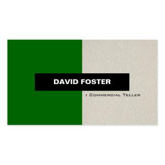 Caja comercial - elegante elegante simple tarjetas de visita