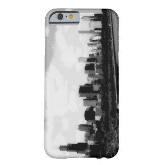 Caja cómica blanco y negro del iPhone 6 de Chicago Funda Barely There iPhone 6