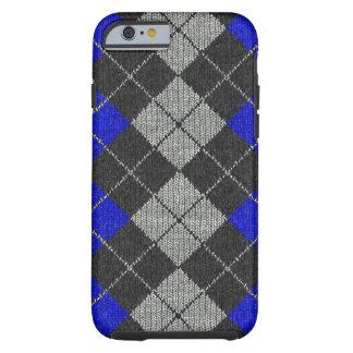 Caja cómoda azul y negra del iPhone 6 de la mirada Funda De iPhone 6 Tough