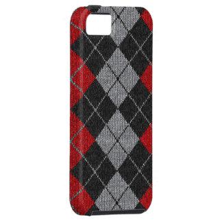 Caja cómoda roja y negra del iPhone 5 de la mirada iPhone 5 Case-Mate Carcasas