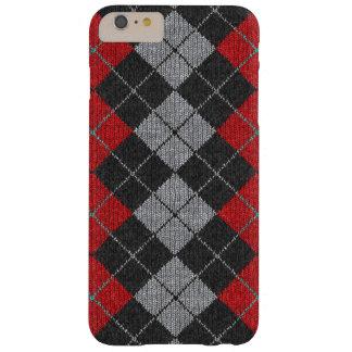 Caja cómoda roja y negra del iPhone 6 de la mirada Funda De iPhone 6 Plus Barely There