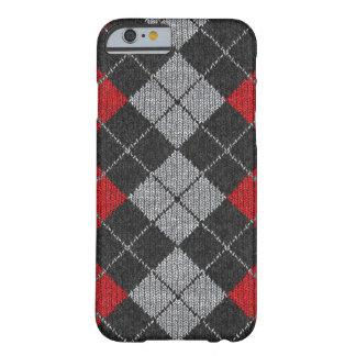 Caja cómoda roja y negra del iPhone 6 de la mirada Funda De iPhone 6 Barely There
