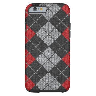 Caja cómoda roja y negra del iPhone 6 de la mirada Funda De iPhone 6 Tough