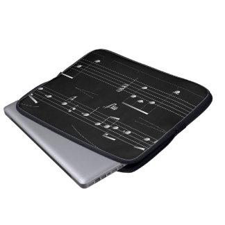 Caja con clase del ordenador portátil de la música funda ordendadores