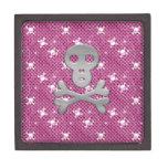 Caja con los cráneos rosados y blancos diseño y el caja de recuerdo de calidad