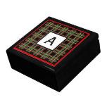 Caja con monograma del recuerdo cajas de regalo