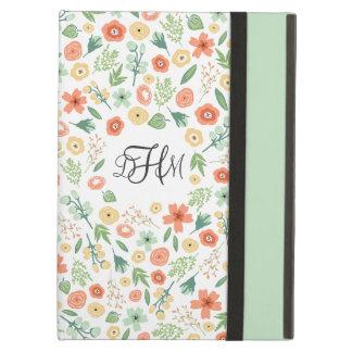 Caja con monograma floral dulce del aire del iPad