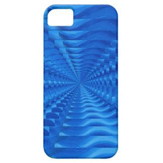 Caja concéntrica azul del iPhone 5 de los iPhone 5 Case-Mate Cárcasa