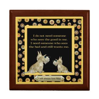 Caja conmemorativa del encargado del tesoro del ma caja de regalo