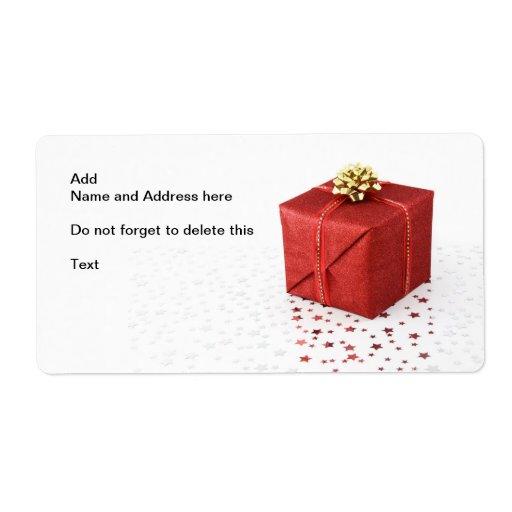 Caja conocida/de la dirección de regalo etiquetas de envío