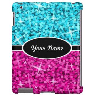 """Caja """"conocida"""" rosada azul del iPad de la mezcla Funda Para iPad"""