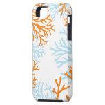 Caja coralina anaranjada y azul del iphone iPhone 5 cárcasa