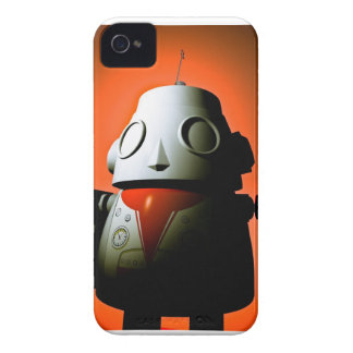 Caja cosechada retra del robot 01 del juguete iPhone 4 cárcasa