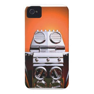 Caja cosechada retra del robot 04 del juguete Case-Mate iPhone 4 protectores