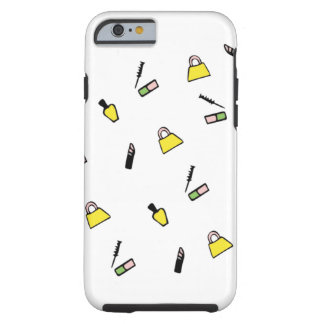 Caja cosmética amarilla de la belleza funda de iPhone 6 tough