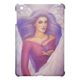 Caja cristalina Amethyst del iPad del ángel del co