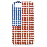 Caja cristalina blanca y azul roja patriótica del iPhone 5 Case-Mate carcasas