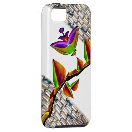 Caja cristalina del mosaico iPhone5 del arte de la iPhone 5 Funda