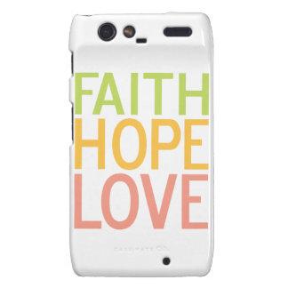 Caja cristiana del teléfono de Droid Razr del amor Motorola Droid RAZR Fundas