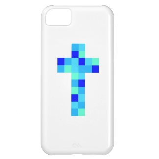 Caja cruzada azul