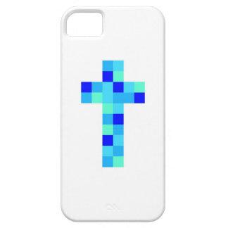 Caja cruzada azul iPhone 5 Case-Mate fundas