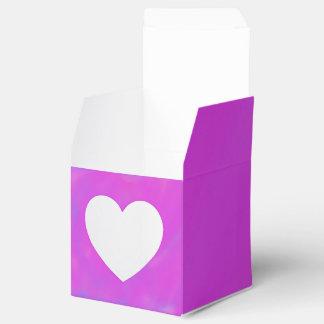 Caja cuadrada púrpura y rosada del favor 2x2 con cajas para detalles de boda