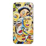 caja cubista del abrigo del arte del iphone iPhone 5 protectores