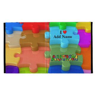 Caja Customi del folio del iPad del rompecabezas