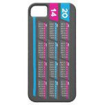Caja de 2014 calendarios para el iPhone 5/5S - der iPhone 5 Cárcasas