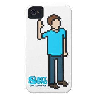 Caja de 8 bits blanca del iPhone 4 iPhone 4 Case-Mate Protectores
