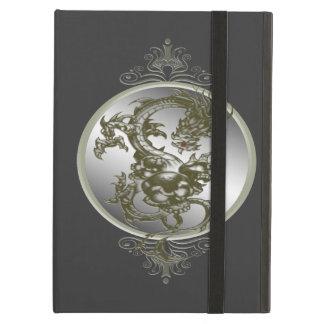 Caja de acero personalizada del iPad del dragón