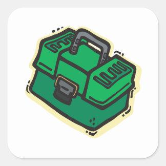 Caja de aparejos 2 pegatina cuadrada