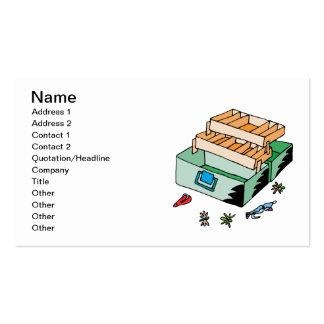 Caja de aparejos tarjetas de visita