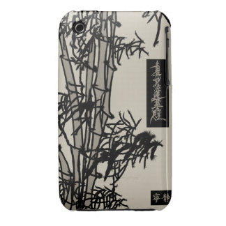 Caja de bambú asiática del teléfono del diseño Case-Mate iPhone 3 coberturas