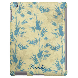 Caja de bambú azul del iPad Funda Para iPad