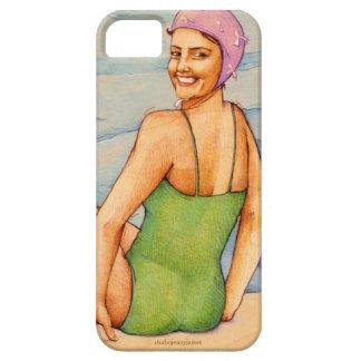 Caja de baño retra del teléfono de la belleza iPhone 5 carcasas