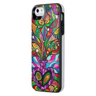 Caja de batería psicodélica de la galería del funda power gallery™ para iPhone 5 de uncommon