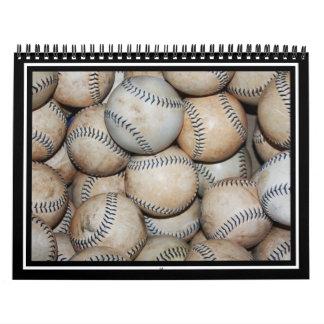 Caja de béisboles calendarios de pared