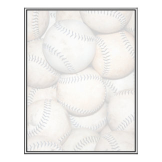 Caja de béisboles plantilla de membrete
