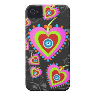 Caja de Blackberry 9700/9780 de los corazones del iPhone 4 Case-Mate Protectores