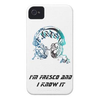 Caja de Blackberry con el azul E-Fresco del Case-Mate iPhone 4 Protector