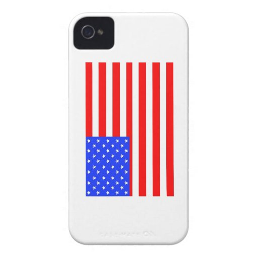 Caja de Blackberry de la bandera americana Case-Mate iPhone 4 Fundas