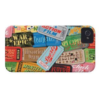 Caja de Blackberry de la noche de película iPhone 4 Cárcasas