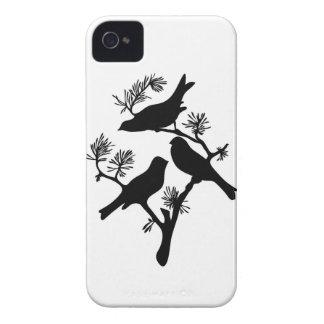 Caja de Blackberry de la silueta de la rama de los iPhone 4 Case-Mate Funda