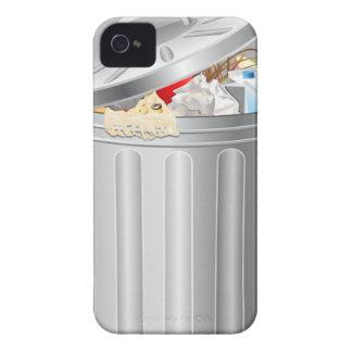 Caja de Blackberry del bote de basura iPhone 4 Case-Mate Cárcasas