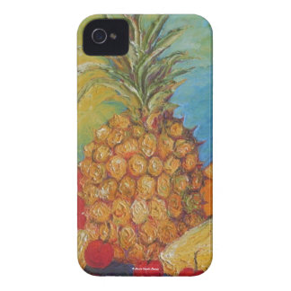 Caja de Blackberry del mercado de la piña Carcasa Para iPhone 4 De Case-Mate