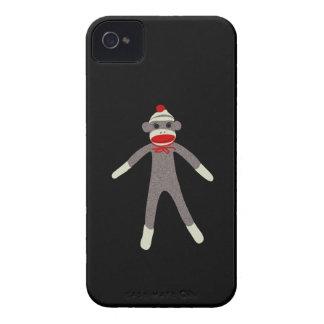 Caja de Blackberry del mono del calcetín iPhone 4 Cárcasas